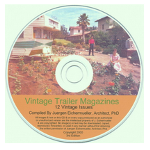 CD-ROM 12 Vintage Trailer Magazines (CBL006)