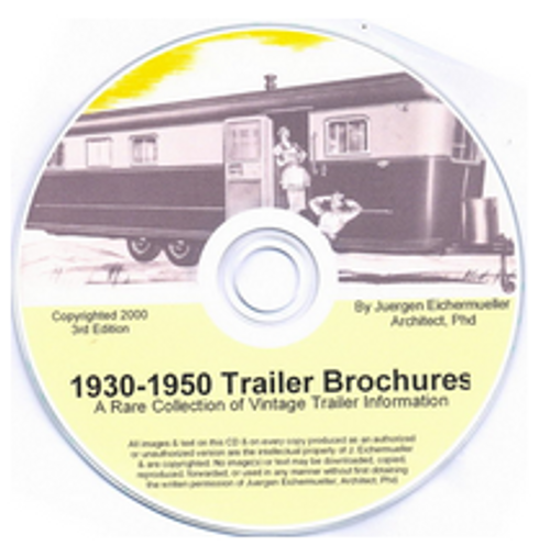 CD-ROM 1930-1950 Trailer Brochures (CBL009)