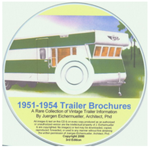 CD-ROM 1951-1954 Trailer Brochures (CBL010)
