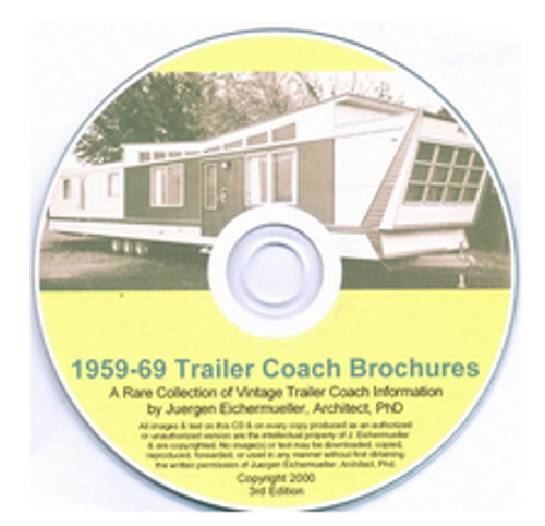 CD-ROM 1959-1969 Trailer Coach Brochures (CBL012)