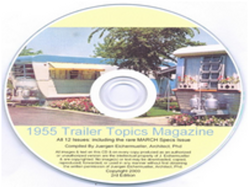 CD-ROM 1955 Trailer Topics Magazines (CBL015)