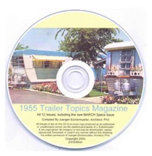 CD-ROM 1955 Trailer Topics Magazines (CBL015)