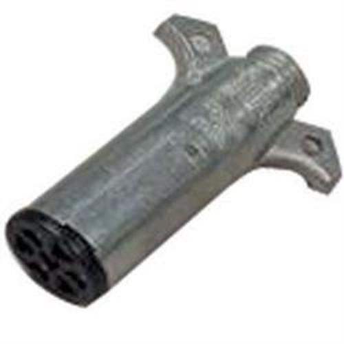 Connector Plug - 7 Way Round Metal (19-1048)