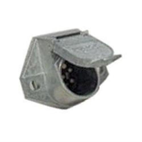 Connector Socket - 7 Way Round Metal (19-1049)