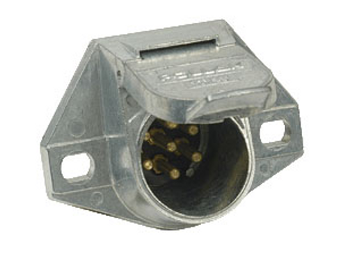 Connector Socket - 7 Way Round Metal (19-1049)