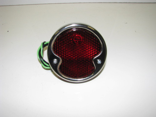 Stainless Steel Taillight - Street Side w/ License Light (CLT013)