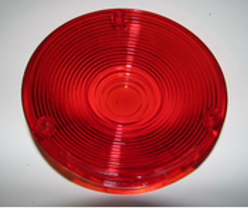 "Red Round Lens - 4-1/8"" (CLT025)"