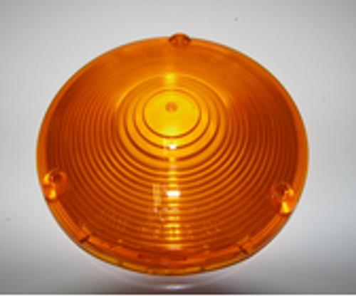 "Amber Round Lens - 4-1/8"" (CLT026)"