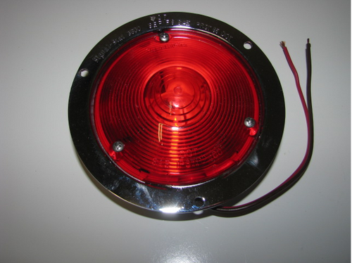 Die Cast Stop/Turn/Tail Light - Chrome (CLT041) FRONT VIEW