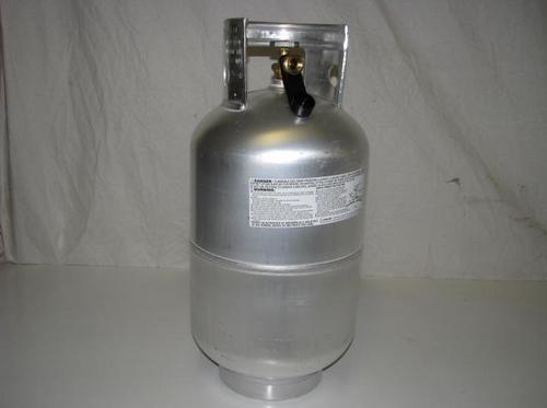 40 LB. Aluminum LP Tank - (CLP005) SIDE VIEW