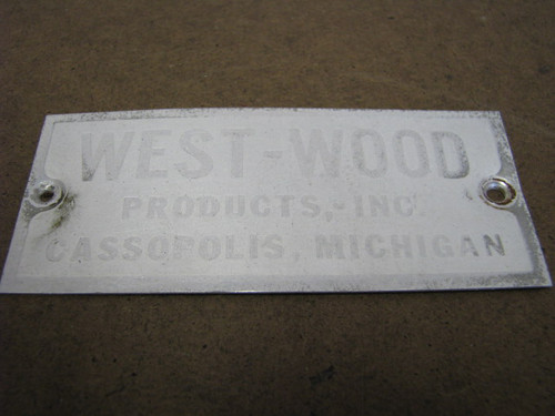Westwood Name Plate (HW148)