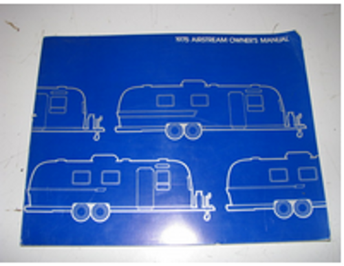 1975 Airstream Owners Manual (BL026)