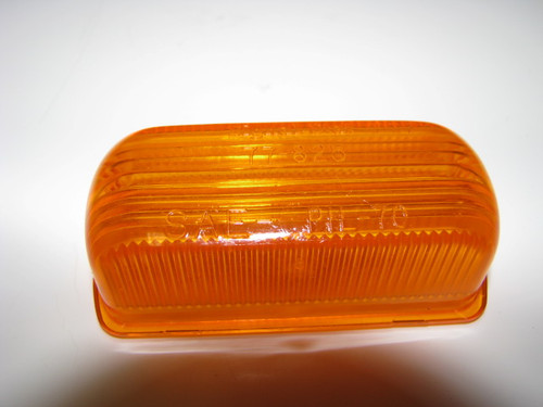 Rubber Base Marker Replacement Lens - Amber (CLT051)