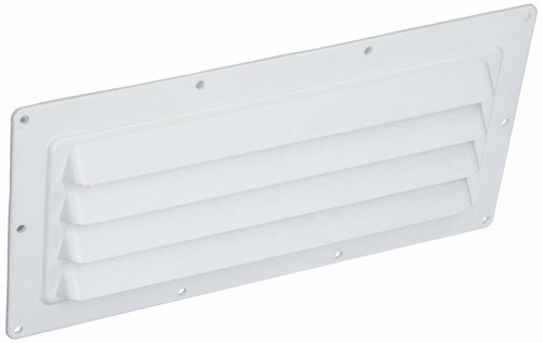 LOUVERED VENTLINE RANGE HOOD OUTSIDE VENT (22-1014) Downward Angled View (FRONT)