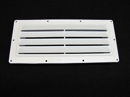 LOUVERED VENTLINE RANGE HOOD OUTSIDE VENT (22-1014) Upward Angled View (FRONT)