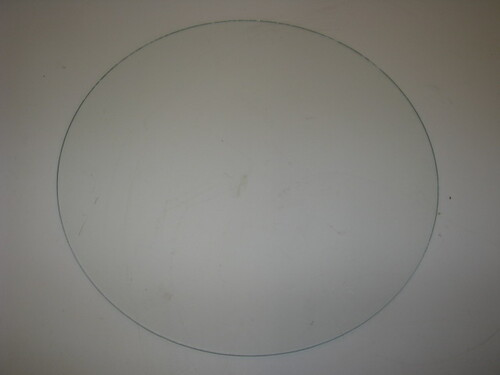 "14-7/16"" Round Glass for Spartan Door 46-53 (CBP029)"