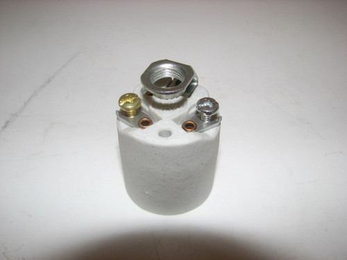 "Porcelain Socket with 1/2"" Hickey"" (CLT066)"