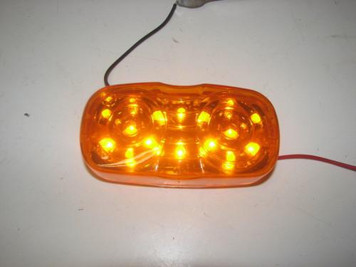 LED Double Bullseye Marker Light - Amber (CLT073)