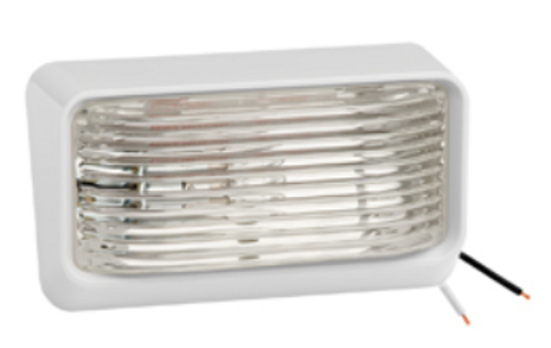 Bargman Ash White Porch Light with Clear Lens (18-1058)