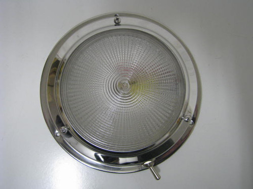 "Dome Light - 4-1/4"" Stainless Steel"" (18-2020)"