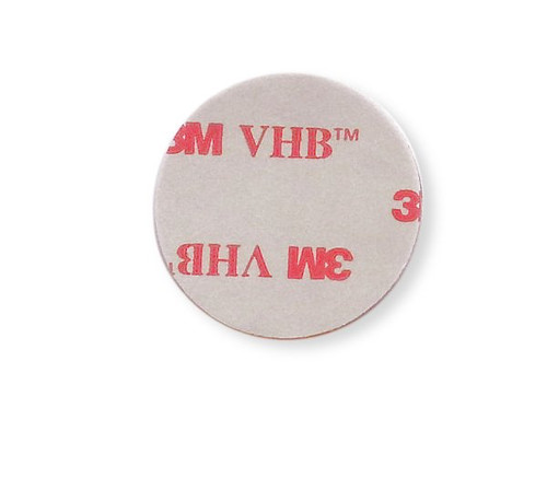 "1"" Aluminum Round Patch with Adhesive - (CBP037) BACK VIEW WITH ADHESIVE"