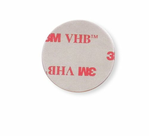 "2"" Aluminum Round Patch with Adhesive -(CBP038) BACK VIEW WITH ADHESIVE"