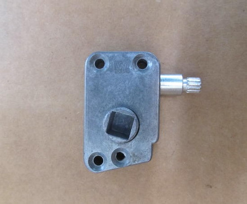 """SIDE MOUNT WINDOW OPERATOR w/ 3/8"""" square shaft- RH (23-2000) FRONT VIEW"""