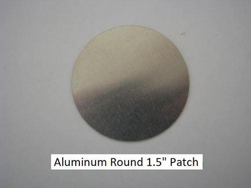 "Aluminum Round Patch - 1.5"" - (CBP039) FRONT OVERHEAD VIEW"