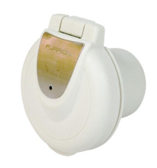 Power Inlet 50 amp, Round, White (19-3002)