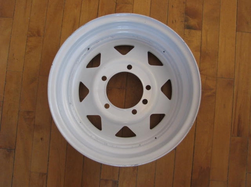 "15"" x 5"" Wheel 5 Hole on 5-1/2"" Bolt Circle (CCH015) BACK VIEW"