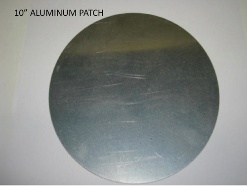 "Aluminum Patch 10"" - (CBP041) FRONT OVERHEAD VIEW"