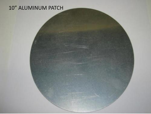 """Aluminum Patch 10"""" - (CBP041) FRONT OVERHEAD VIEW"""