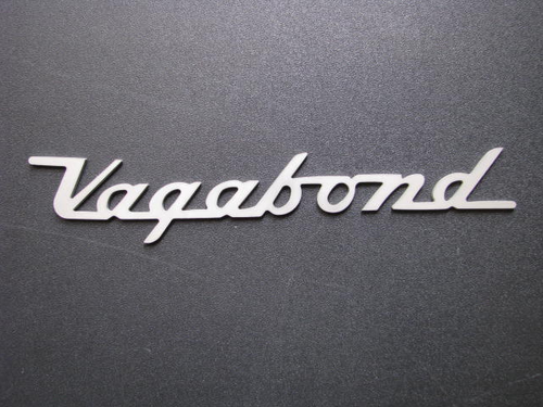 """Vagabond"" Script Nameplate (CHW131) FRONT VIEW"