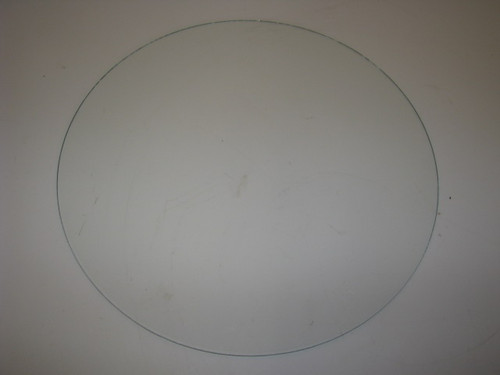 "15-3/4"" Round Clear Glass for Spartan Door 54+ (CBP042)"