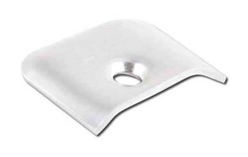 Side Molding End Cap; Mill; Aluminum; 10 Per Pack (20-1163)