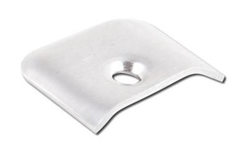 Side Molding End Cap; Mill; Aluminum; 10 Per Pack (20-1163)