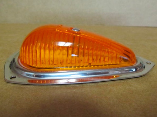 Reproduction Teardrop Clearance Light-Amber (CLT105) Side view