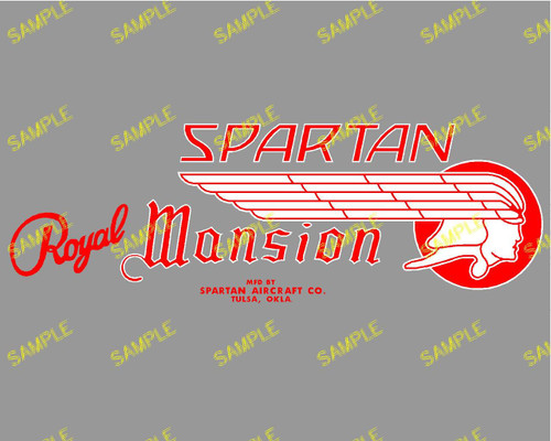 Spartan Royal Mansion Red Decal (CHW108)