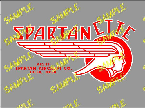Spartanette 24 Decal (CHW111)