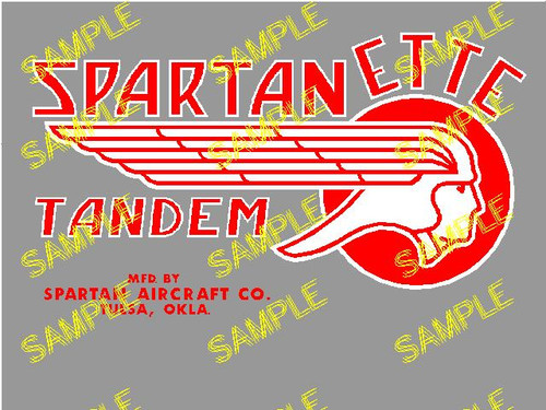Spartanette Tandem Decal (CHW114)