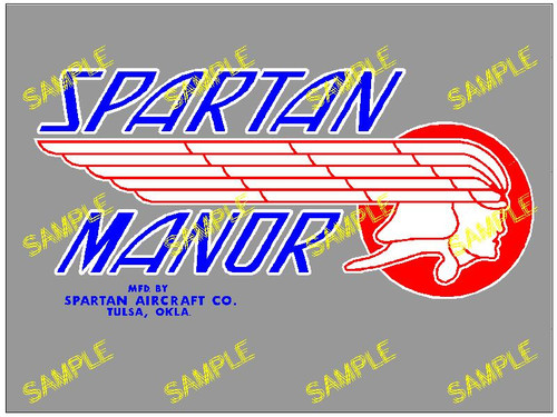 Spartan Manor Blue Decal (CHW113)