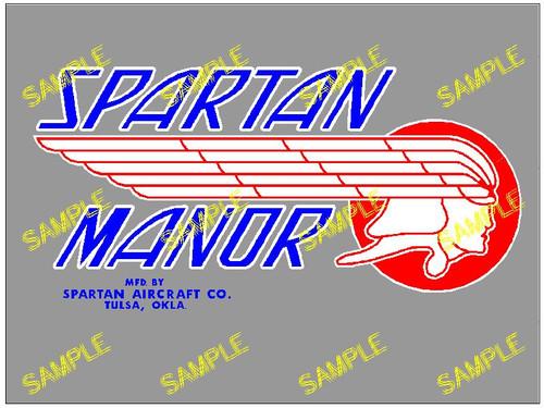 Spartan Manor Blue Decal (CHW113)