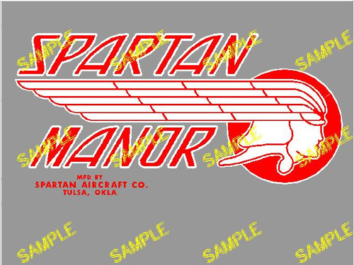 Spartan Manor Red Decal (CHW112)