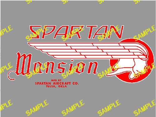 Spartan Mansion Decal (CHW110)