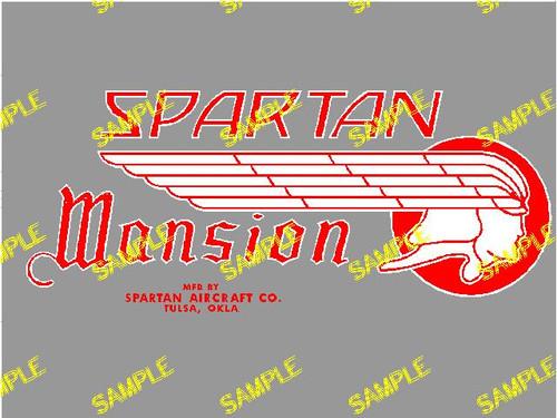 Spartan Mansion Decal (CHW110)
