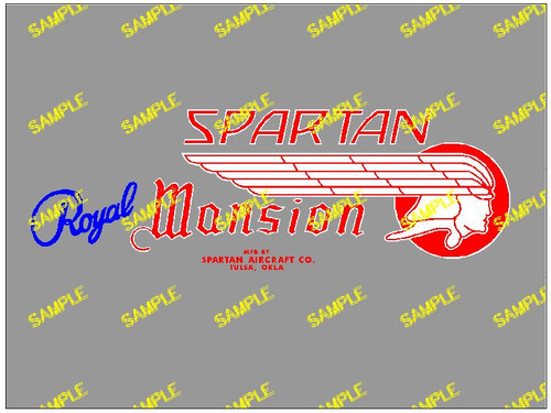 Spartan Royal Mansion Blue Decal (CHW109)