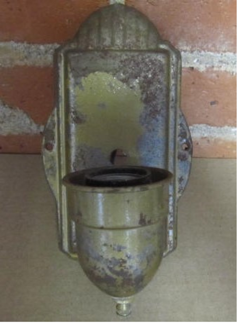 Steel Wall Sconce (LT400) FRONT VIEW