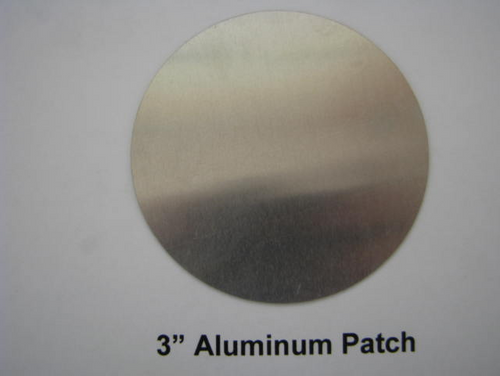 "Aluminum Round Patch - 3"" -(CBP003) FRONT VIEW"