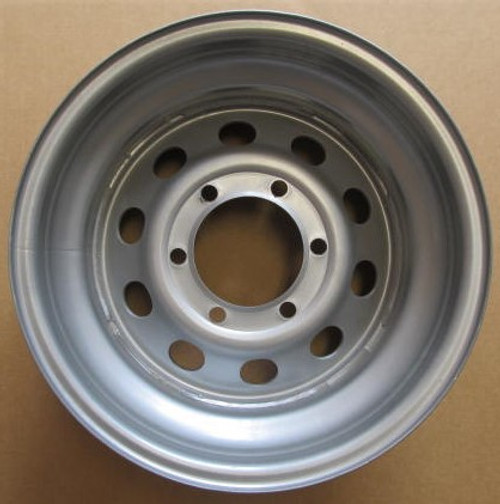 "15"" X 6"" Wheel 6 Hole on 5-1/2"" Bolt Circle-Silver Mod (CCH034)"