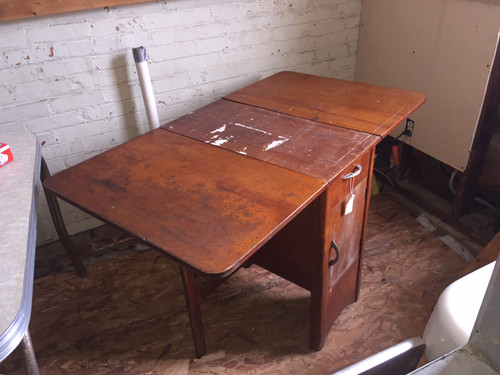 Spartan Drop Leaf Wood Table